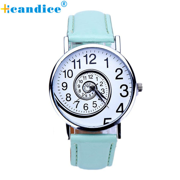 2017 New Fashion Women Designed Swirl Pattern PU Leather Analog Quartz Women Wrist Watch Relojes De Marca Mujer D122 - Raja Indonesia
