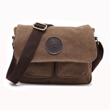 2016 New Fashion Men Vintage Canvas School Messenger Bag Satchel Brand Military Men Laptop Shoulder Messenger Bag - Raja Indonesia