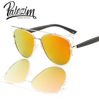 2017 New Summer Style Reflective Metal Frame Luxury Brand Sunglasses Women and men Fashion Designer Retro vintage Sun Glasses - Raja Indonesia