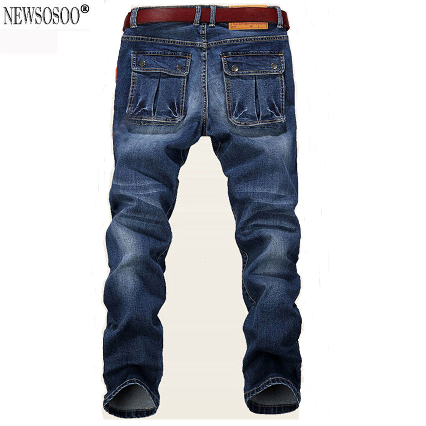 Denim Skinny 48 Elastic Slim Straight 42 New Men Jeans Pants 46 2016 Homme 44 Fit Cheap Price Large Men's Plus Size Blue Jean 5jLcq4AR3S