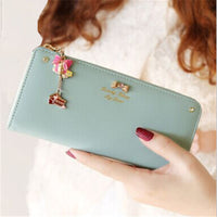 2017 Women Fashion Lady's Wallet Coin Purse Clutch Zipper Leather Long Handbag Top Quality Free Shipping N530 Bolsas Femininas - Raja Indonesia