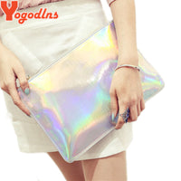 2017 Laser women bags Designer clutch bag Fashion women messenger bags ladies Envelope Clutches handbag - Raja Indonesia