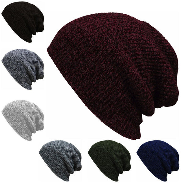f5ae5ce778a66 1PC Knit Men s Baggy Beanie Oversize Winter Warm Hats Ski Slouchy Chic  Crochet Knitted Cap for ...