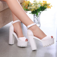 2016 New style high heels women sandals open toe sandals female thick heel platform  summer shoes big size 9 - Raja Indonesia