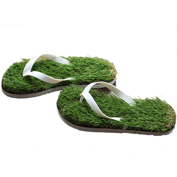 2016 New Women Imitation Grass Flip Flops For Woman Summer Beach Flat Shoe Out Sandals Slipper Ladies Sandalias Mujer Lovers - Raja Indonesia