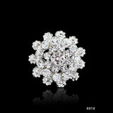 2016 Charming Jewelry Bridal Bouquet Flower Pattern Brooch Pin Rhinestone Inlaid Crystal Women Wedding Brooches 14 types - Raja Indonesia