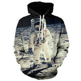 2016 New Arrival Fall Winter Women Hoodies 3D Print Pullover Hoodies Space Astronaut Print Sweatshirt Men/Women Hooded Sportwear - Raja Indonesia