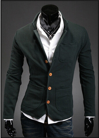 e36dc7507631 2015 new asymmetry spring autumn men's stand collar suit small color  matching casual men blazer jacket