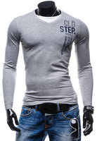 2015 New men's casual slim fit t shirt fashion printing Long SleeveT-shirt - Raja Indonesia