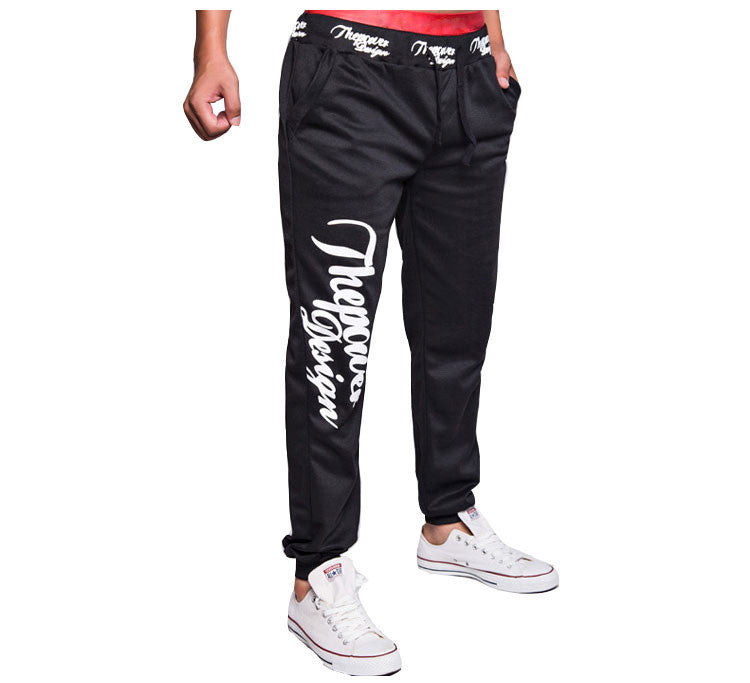 2015 New Winter Men's Letters Printed Men Joggers Loose Tether Home Fitness Pants Casual Men Jogger Pants M-XXL - Raja Indonesia