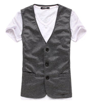2015 Spring Fashion New Basic Casual Men Suit Vest  Brand Quality Casual Solid Waistcoat Free Drop Shipping  3 Color - Raja Indonesia