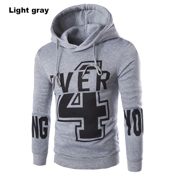 2016 Fashion Brand Hoodies Men Casual Slim Fit  Sportswear Man Hooded Sweatshirt Print Design Long-sleeved Coat 3 Colors - Raja Indonesia