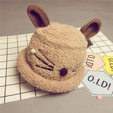 2016 New Arrival Cute Cat Design Hat Winter Wool Cap Baby Boys/Girls Cute Hat  New Fashion Warming Plush Child Hat - Raja Indonesia