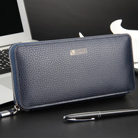 2017 New Wallet Mens Long Zipper Coin Purse PU Leather Notecase Business Male Clutch Carteira Phone Bag Masculina men's hand bag - Raja Indonesia