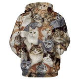 2016 New Fashion Couples Hoodies Long Sleeve 3d Cats Printed Pullovers  Casual Men/Women Sportswear Sweatshirts Streetwear Tops - Raja Indonesia