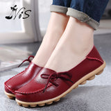 Hot Sale Leather Beanie Women Shoes Fashion Summer Spring Autumn Slip-on Knot Non-slip Womens Women Ladies Soft Loafers Flats - Raja Indonesia