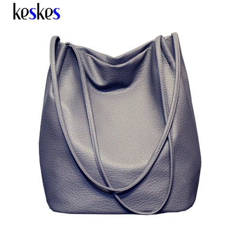 Large Capacity Ladies Shopping Bag Bolsa Designer Women Leather Handbags Black Bucket Shoulder Bags Lady Cross Body Bags C1437KK - Raja Indonesia