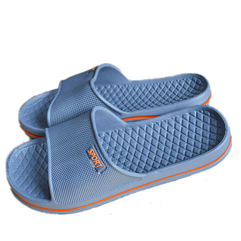 Mens Shoes Bathroom Skidproof Flat Sandals Summer Home Slippers Casual Indoor Shoes Beach Sandals - Raja Indonesia