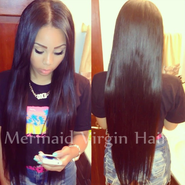2015 Hot Silk Straight Brazilian Virgin Hair Full Lace Human Hair Wigs Lace Front Wigs Glueless Full Lace Wig For Black Women - Raja Indonesia