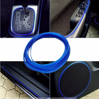 5M Universal Car-Styling DIY Cold Line Flexible Interior Decoration Moulding Trims Strips Car Styling Sticker Accessories - Raja Indonesia
