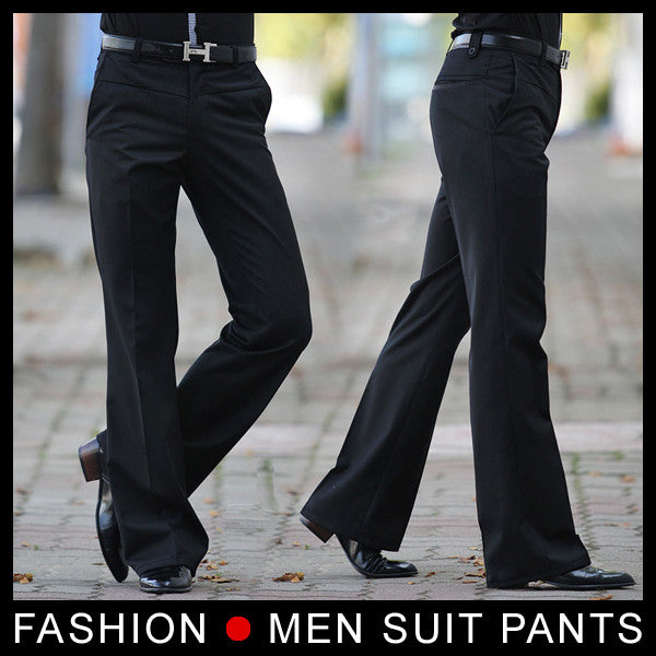 Men S Flared Trousers Formal Pants Bell Bottom Pant Dance Suit Pants