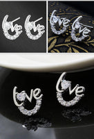 Anting Kristal D'Amare  Love Silver Plated - Raja Indonesia