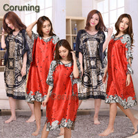 A1687 Time-limited Summer Style Women Nightgown 2016 Sleepwear Plus Size Indoor Clothing Faux Silk Robe Home Bathrobe - Raja Indonesia