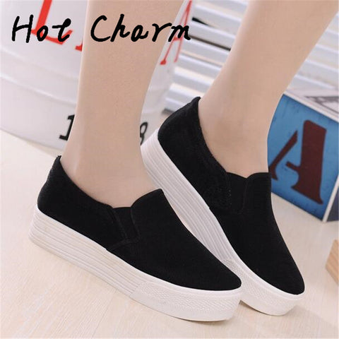 2016 New Arrival Brand Women Fashion Casual Shoes Women Canvas Shoes Summer Autumn Female Platforms shoes - Raja Indonesia