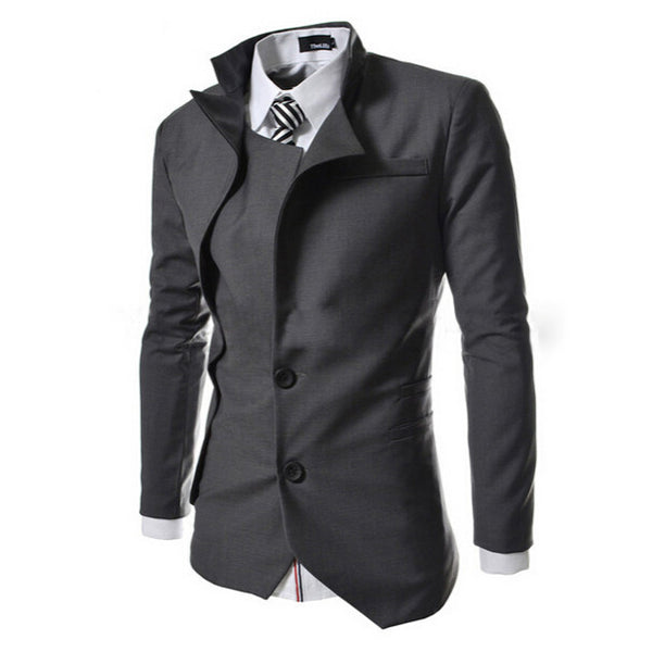 2017 New Arrival England Style Mens Blazer Masculino Suit Jacket Slim Fit Blazers Men 3 Colors Tuxedo Jackets Plus Size 2M0141 - Raja Indonesia