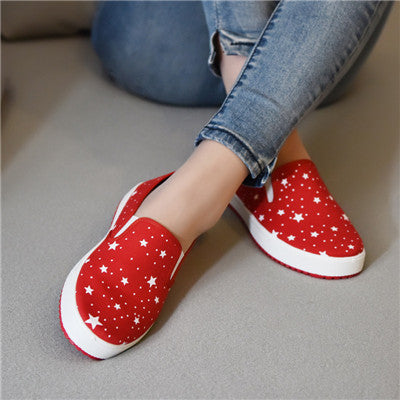 Women Flats 3D print Style 2016 New woman canvas shoes Slip-on Soft Comfortable Casual Shoes Spring And Autumn Shoes For Women