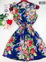 2017 summer autumn new Korean Women casual Bohemian floral leopard sleeveless vest printed beach chiffon dress vestidos WC0344 - Raja Indonesia