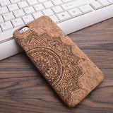 2016 New Wood Grain Design Soft TPU Fiber Crack Any Carvings Pattern Back Phone Cover for iPhone 6 6S 7 7plus - Raja Indonesia