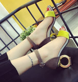 2016 New Fashion Women's High Heels Pumps Sexy Bride Sandals square Heel Peep toe High Heels Shoes women - Raja Indonesia