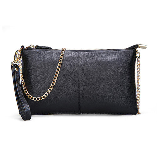 15 Color Genuine Leather Women's Bag Designer High Quality Clutch Fashion Women Leather Handbags Chain Shoulder Bags for women - Raja Indonesia