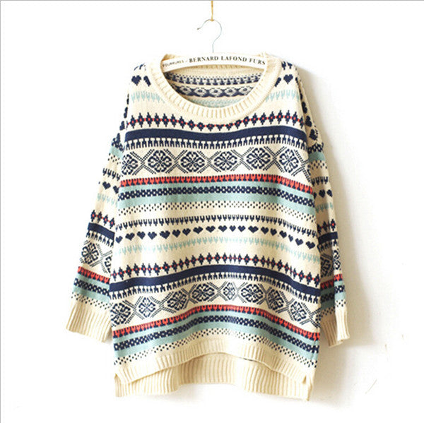 2015 sweater women  sweaters and pullovers fashion autumn knitted wool winter oversized pullover woman - Raja Indonesia