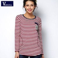2016 tee shirt femme Spring long sleeve tshirt women t shirt womens tops fashion poleras de mujer stripe t-shirt camisetas mujer - Raja Indonesia