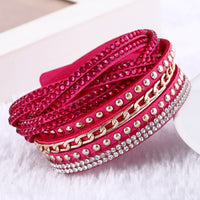 2016 New Fashion leather bracelet Punk Style Multilayer Bracelets & Bangles Rivet Bracelet For Women pulseras - Raja Indonesia