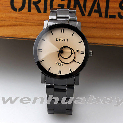 KEVIN New Design Women Watches Fashion Black Round Dial Stainless Steel Band Quartz Wrist Watch Mens Gifts relogios feminino - Raja Indonesia