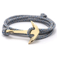 2016 New Silver Alloy Anchor Bracelet Multilayer  Leather Risers Bracelet for Women&Men Friendship Bracelets High Quality - Raja Indonesia