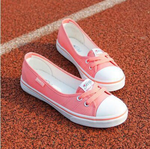 Women Shoes Ballet Flats Loafers Casual Breathable Women Flats Slip On Fashion 2016 Canvas Flats Shoes Women Low Shallow Mouth