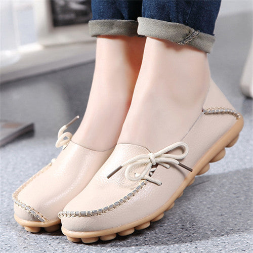 2016 New PU Leather Women Flats Moccasins Loafers Wild Driving women Casual Shoes Leisure Concise Flat shoes In 15 Colors  ST179 - Raja Indonesia