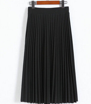 2016 spring all-match chiffon skirt waist fold slim skirt pleated skirt Department summer slim skirt - Raja Indonesia
