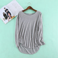 2016 Autumn Fitness New Long Sleeve T Shirt Plus Size Loose Model Women T-shirt Cotton O-neck Slim Fashion Woman Clothes - Raja Indonesia