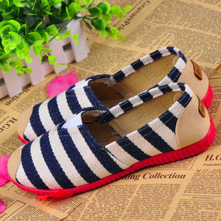 Free shipping Size 35-40 Wholesale New Brand Fashion Women Flats Shoes Women Canvas Shoes loafers Espadrilles summer Lazy loafer - Raja Indonesia