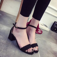 2017 New Hot Sale Women Fashion Sandals 100% Real Photo High Quality Square Heel Sandal Shoes For Lady .DFGD-528 - Raja Indonesia
