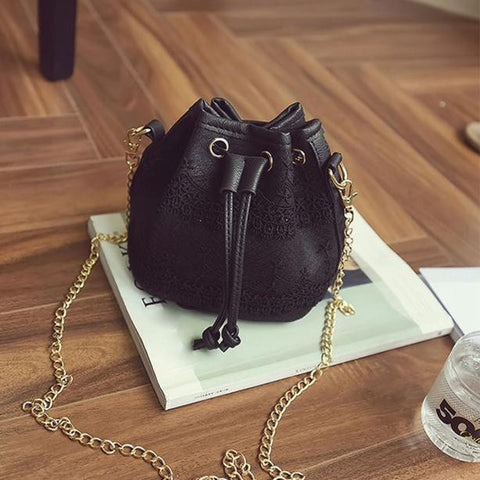 New Famous Brand Women Messenger Bags Fashion Lace PU Leather Handbag Shoulder Bags Tote Purse Messenger Satchel Bag Cross Body - Raja Indonesia