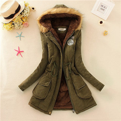 2016 New Long Parkas Female Womens Winter Jacket Coat Thickening Cotton Warm Jacket Womens Outwear Parkas Plus Size Fur Coat - Raja Indonesia