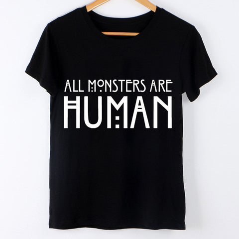 Harajuku New 2017 Tumblr T-Shirt Women Tops Arctic Monkeys Letter Print Casual Tees Short Sleeve Black Brand T shirt Femme Punk - Raja Indonesia