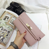 2016 summer new brand deisgner women lock wallet female leather envelope day clutch bag ladies hand bags purse for ladies - Raja Indonesia