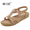 summer women sandals 2017 gladiator sandals women shoes Bohemia flat shoes sandalias mujer ladies shoes new flip flops W975-99